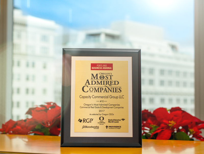 Oregon's Most Admired Companies 2017 Award